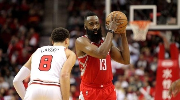 هاردن يهدي روكتس الانتصار أمام بولز في دوري السلة الأمريكي