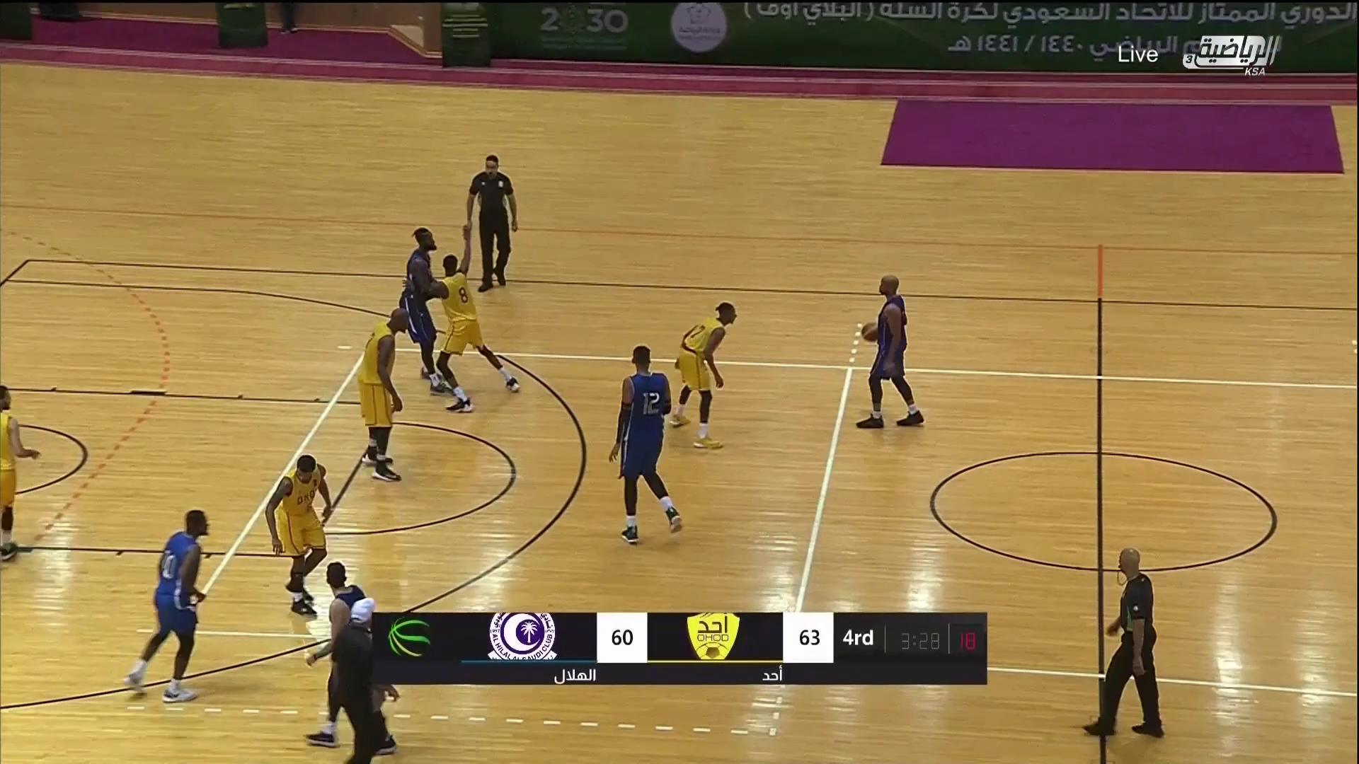 """مباراة (الهلال❌ أحد) - نصف نهائي - الدوري الممتاز لكرة السلة  """" المباراة الفاصلة"""""""